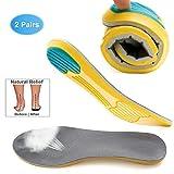 LONG-X 2 Paires Semelles Orthopediques, Sport Semelles Chaussures Mousse De MéMoire,Semelles De Chaussures...