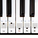 Autocollants Keysies amovibles en plastique transparent pour touches de piano et clavier - avec guide pratique...