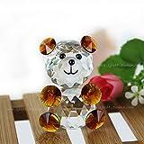 Artisanat Verre Cristal Animal Teddy Bear Figurine Miniature De Noël Celebrity Figurines Enfants Bureau...