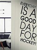 stickers muraux enfants spiderman Chaque jour est un bon jour pour le hockey Sport