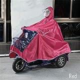 GLJY Imperméable imperméable à l'eau de Pluie Grand Manteau de Cape Manteau de mobilité Scooter Moto...