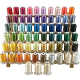 New brothread 63 Brother Couleurs Polyester Fil machine à broder pour Brother / Babylock / Janome / Singer /...
