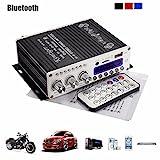 Amplificateur stéréo mini bluetooth, ELEGIANT 12 V Hi-Fi Mini Bluetooth voiture MP3 Amplificateur audio...