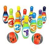 yoptote Bowling Lot de Jouets à l'extérieur de Jeux de Jardin pour Enfants fête de Jardin avec 2balles en...