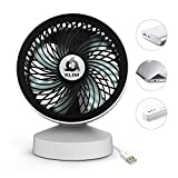 KLIM Breeze - Ventilateur de Bureau USB Haute Performance - Ventilo de Table - Silencieux et Ajustable - Blanc...