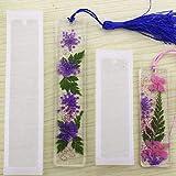 2 pcs/set Rectangle Silicone Marque-page Moule, Diy Marque-page Moule Fabrication De Résine Époxy Bijoux Diy...