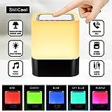 StillCool Lampe de Chevet LED Touch Portable Avec Enceinte Bluetooth Réveil Alarme Horloge FM Lecture de MP3...