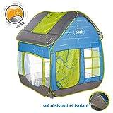 LUDI - Tente cottage pop-up pour jouer dans le jardin 130 x 120 x 144 cm. Dès 2 ans. Tissu résistant et anti...