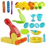 Kare & Kind Kit d'outils pour pâte à modeler avec outils d'extrusion et ensemble d'heure du déjeuner (Kare...