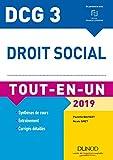 DCG 3 - Droit social 2019 - 11e éd. : Tout-en-Un (Tout-en-Un DCG)