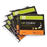 HP CD-RW Lot de 5disques 12x données 700Mo/80minutes Musique
