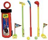 Jeu de Minigolf - pour enfant - Set de Mini-Golf - avec caddie, 3 battons putter et 2 balles colorées...