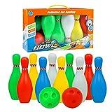 Bowling Jeux de Quilles bowlingset Jeu En Plein Air Jeux Exterieur Garcon Fille 3 + (Large 36*18*24,5cm)