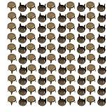 Aexit 100pcs 12mm bricolage papier plat tête ton bronze brad pour artisanat de scrapbooking JU396531S614164Q
