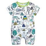 L'été Toddler Enfants Garçons Bébé Mignon De Bande Dessinée Romper Jumpsuit Outfit Vêtements Onesies...