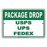 inclus dans Drop Usps UPS FedEx avis de quai de chargement en aluminium plaque de plaque en métal 18'x24'...