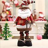 Ornement de Noël debout rétractable Figurine enfants Décorations de vacances multi-couleurs debout...