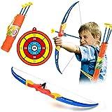 ANNA SHOP Jeux Exterieur pour Enfant Simulation Bow Arrow en Plastique Doux Sucker Flèche Arc avec Cible Jeu...