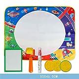 Chevalet Enfant Tampon magique de graffiti de l'eau pour enfants 55x46.5cm, dessin de peinture pour enfants de...