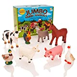 Learning Minds Ensemble d'esprit d'apprentissage de 8 Figurines d'animaux de Ferme Jumbo - 18 Mois +