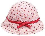 Happy Cherry Chapeau de Seau Bébé Fille Toddler en Coton Anti UV avec Imprimé Fraise Casquette Joli de Bord...
