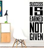 La R?ussite est Gagn? non ?tant donn???exercices de fitness gym Sports murale Stikers, citation, Motivation...