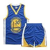 Maillots de Basket pour garçons et Filles, Stephen Curry # 30 Maillot de Basket-Ball pour Enfant, Haut...
