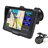 GPS Auto 7 Pouces Système de Navigation Automatique à Ecran Tactile Cartographie Europe 52 à Vie Caméra de...