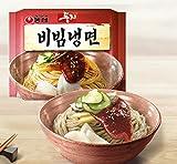 Nong Shim Nongshim dungji bibim naengmyeon (korean nouilles froides) 4ea, nouilles instantanées coréen,...
