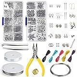 FEPITO Bijoux Faisant Kit Bijoux Trouvant Outils de Démarrage Kit avec Pinces et Étriers pour Fabrication de...