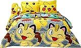 Pokémon officiel Jaune Parure de lit, Drap housse, taie d'oreiller, housse de traversin, Doudou Dlc010Lot,...