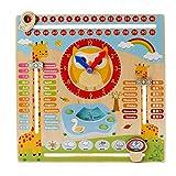 Amasawa Enfant Jouets Éducatifs Horloge Calendrier Éducative Précoce Heure Tableau Date Saison Météo pour...