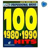 100 Hits 1980-1990 pour instruments de mélodie C : guitare, piano, clavier - Songbook avec pince à...