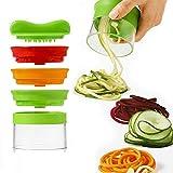Spiralizer legume - Coupe legumes spaghetti spirale de légumes, Trancheuse Végétale Eplucheur Julienne...