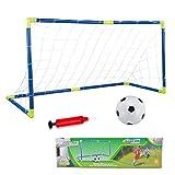 Cage et Mini But de Football Ensemble Jeux de Plein Air et Sport Set Entrainement de Foot pour Enfants avec...