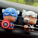 Cailiaoxindong Désodorisant Automobile pour Voiture avec Clip pour Les Figurines Avengers Marvel Superhéros...