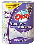 Okay Essuie-Tout & Serviettes - Essuie-Tout pour la Table - 8 Rouleaux (Décoré)