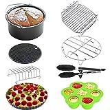 Accessoires pour friteuse XL Air 8 pouces pour Gowise Phillips Power Friteuse Nuwave Farberware et Cozyna Air,...