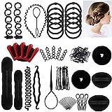 Accessoires de Coiffure,25 Styles Multi Set Outils de coiffure Kit de Coiffure pour Femmes et Filles Convient...