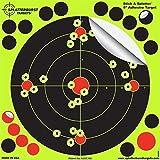Cible de tir adhésive Stick & Splatter de 20,3 cm - Vos Coups éclatent Jaune Fluorescent à l'impact -...