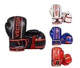 Vector Sports Style Pro Gants de boxe/kickboxing pour enfants MMA Cuir Maya Fait main 113-170g, Red, 6 oz