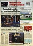 NOUVELLE REPUBLIQUE (LA) [No 18807] du 13/09/2006 - CHATEAU-RENAULT - IL AURAIT PREMEDITE SON GESTE - TRAVAIL...