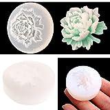 Jiamins 3D Fleur Rose Moules en Silicone pour la Création de Bijoux Résine Collier Pendentifs Moule Outil