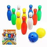 yoptote Jeu de Bowling de 10 Quilles et 2 Bowling Balle Jeu de Plein Air Jardin de Famille Société pour...