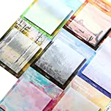 8 pcs Peinture à l'huile Sticky Notes d'école d'écriture Self-Stick Notes Memo Pad Bureau Liste de choses...
