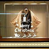 Nouveau Noël Série Célébration Bougies Salon Chambre Chambre Fenêtre En Verre Stickers Muraux Amovible 58...