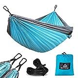 NatureFun Hamac ultra-léger de voyage Camping | 300 kg Capacité de charge,(275 x 140 cm) respirante, nylon...