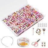 Enfants Bricolage Perles Set (500pcs), Phogary Bracelets Bricolage Colliers Perles Pour La Fabrication De...