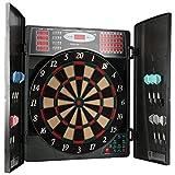 Ultrasport Cible de fléchettes électronique avec portes, cible de fléchettes classique pour 16 joueurs, jeu...