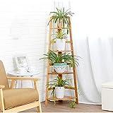 X-L-H Rénové simple et simple en bois paroi à plusieurs étages Rangements de coin salon étagères de...